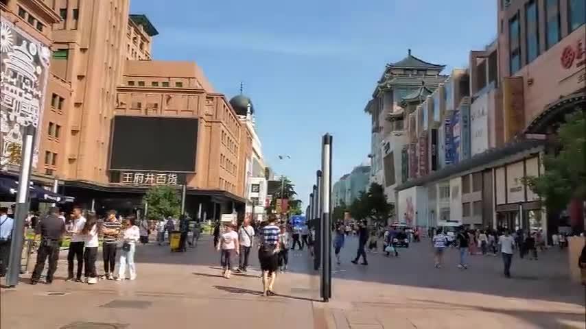 Walk on Bustling Wangfujing Street